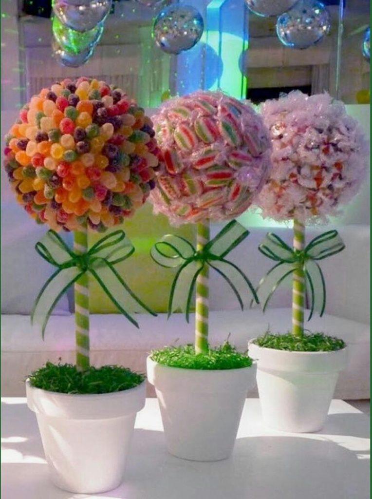 Поделки в садик и школу необычные топиарии из конфет