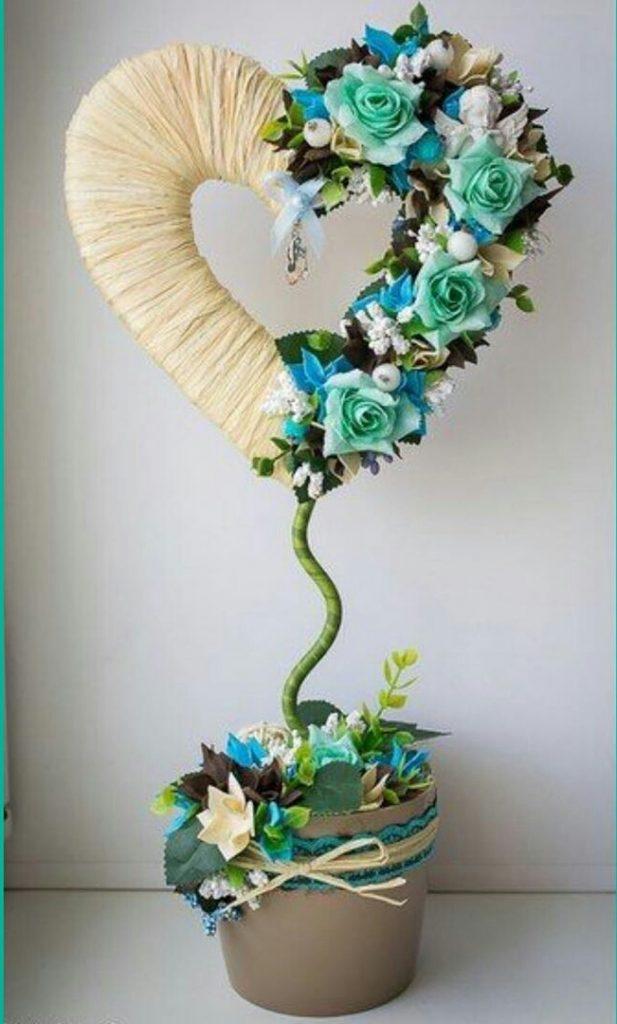 Поделки в садик и школу необычные топиарии из цветов