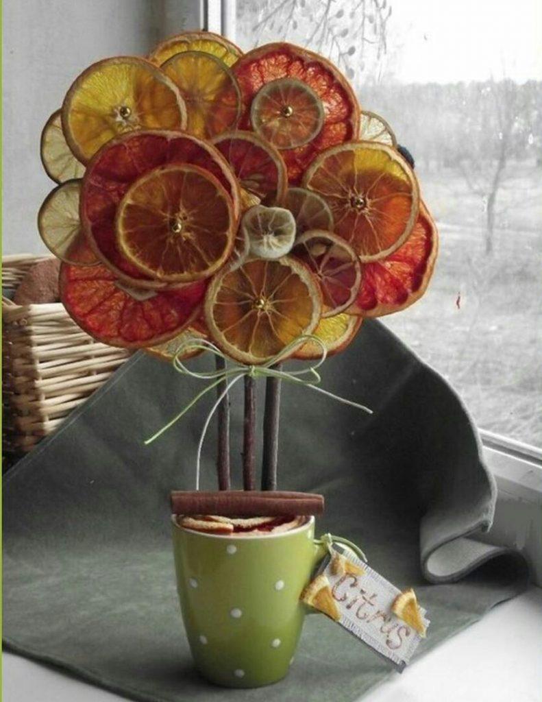 Поделки в садик и школу необычные топиарии из апельсинов
