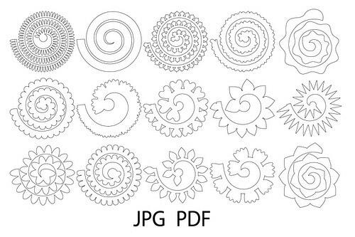 Объемные цветы схема