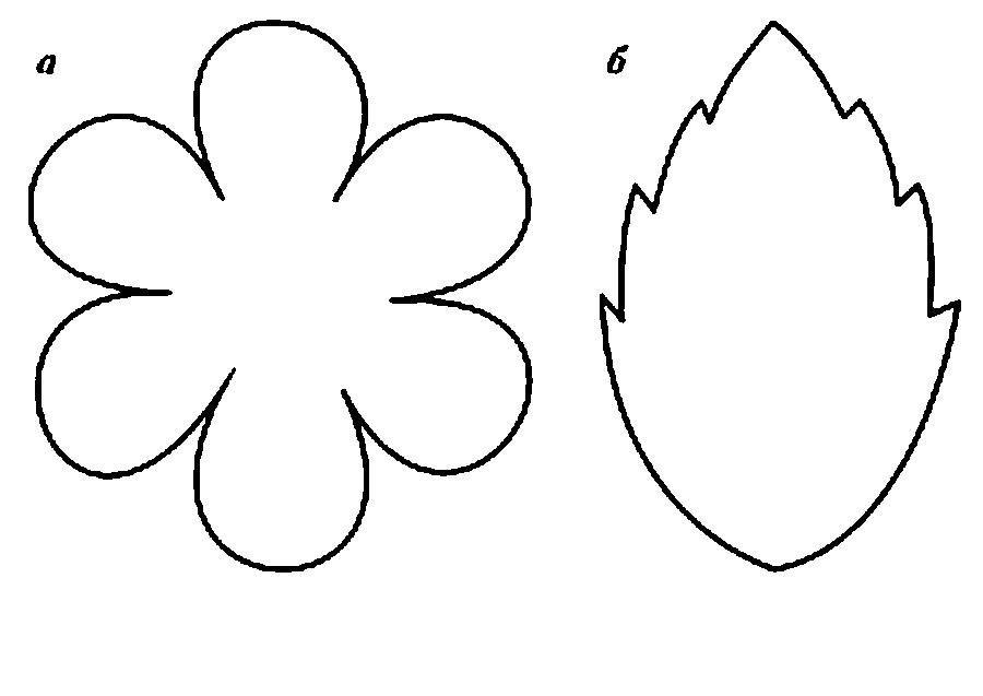 Шаблоны цветов и листика к весенним поделкам