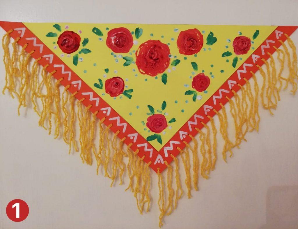 Мастер-класс на 8 марта платок для мамы