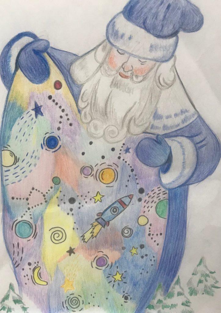 Конкурс рисунков Дед Мороз и Космос