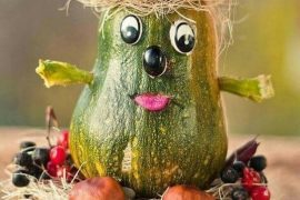 Поделки из кабачков на конкурс в детском саду из природного материала